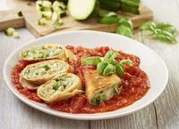 Crespelle, czyli zapiekane nalesniki z gorgonzolą i cukinia Fot. Knorr