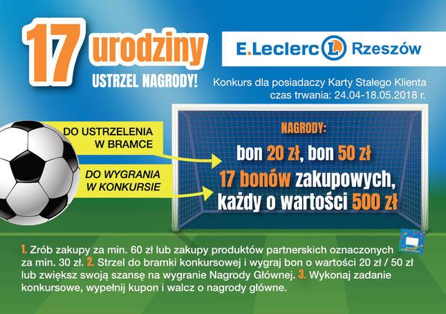 Konkurs urodzinowy E.Leclerc w Rzeszowie
